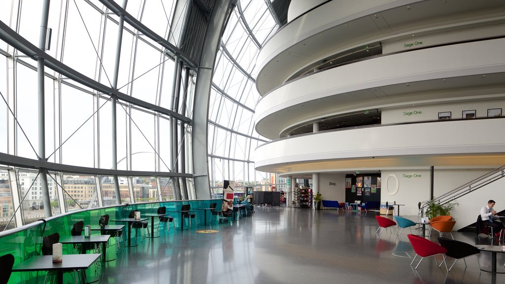 Sage Gateshead showing interior views and modern architecture