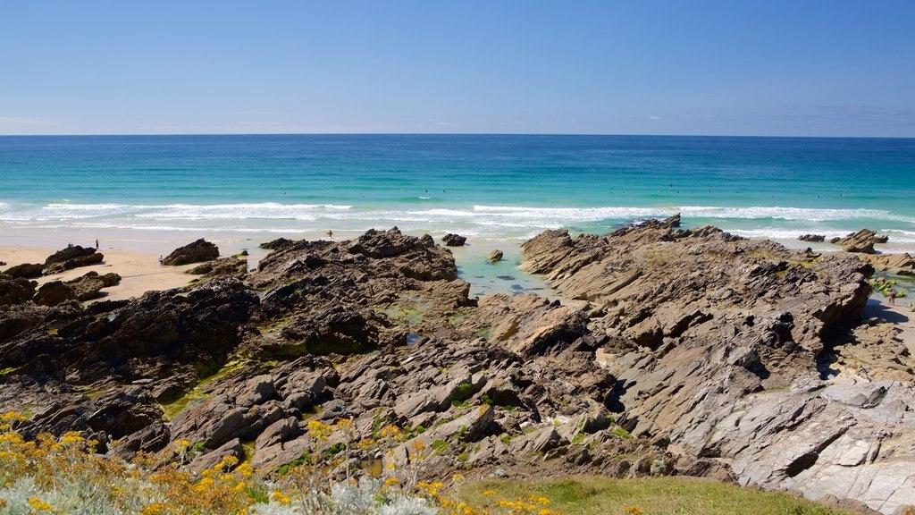Fistral Beach which includes a sandy beach