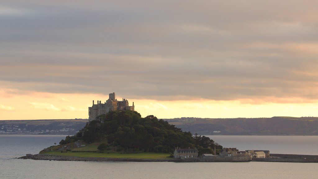 St. Michael\'s Mount showing a sunset, island images and general coastal views