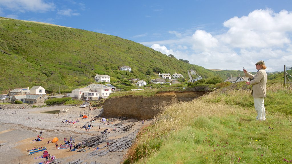Crackington Haven which includes a beach and a coastal town as well as an individual femail