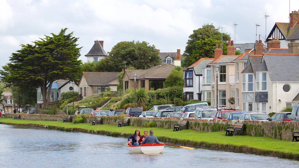 Bude featuring a coastal town and boating