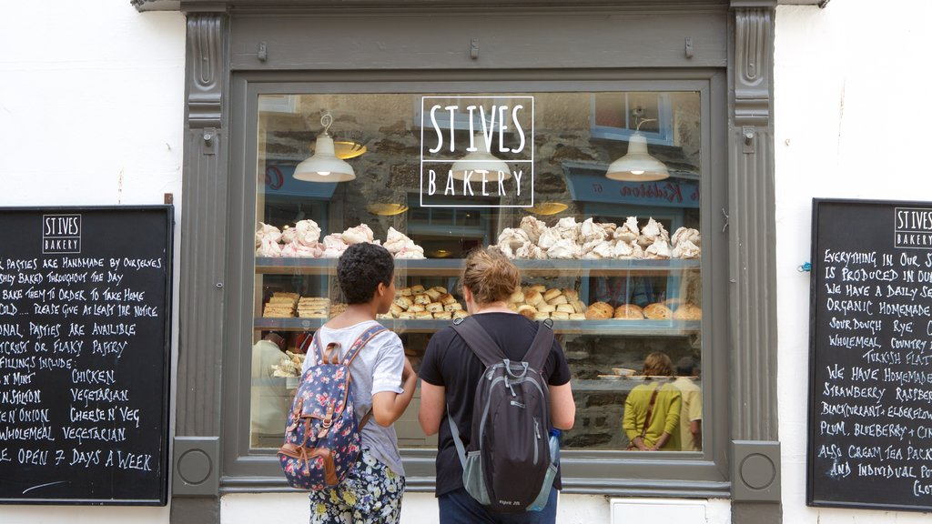 St Ives featuring food and signage