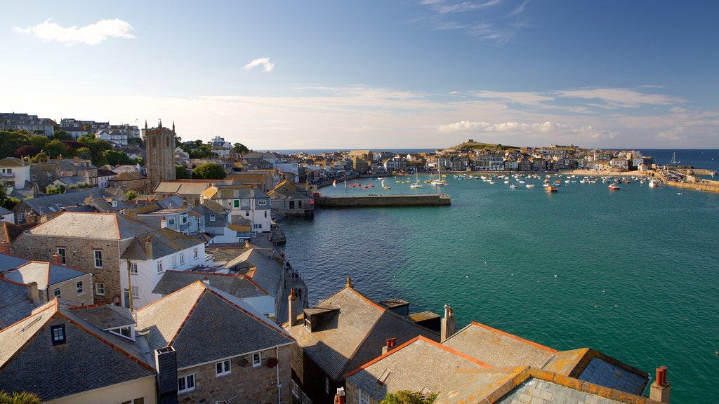 St Ives featuring a bay or harbor, boating and a coastal town