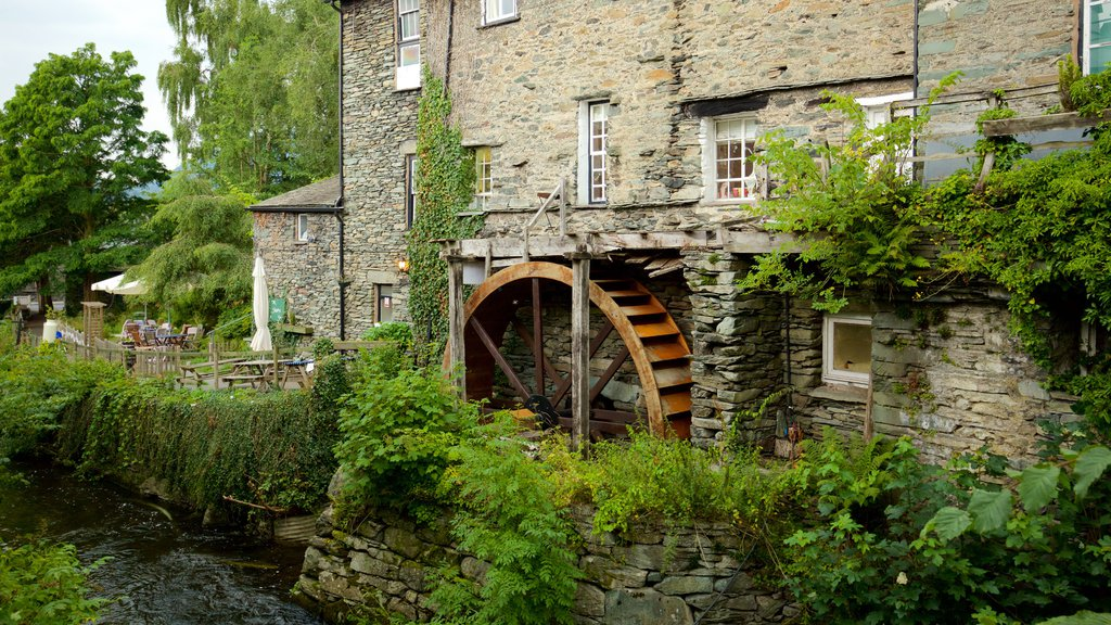 Ambleside featuring heritage architecture, a small town or village and a river or creek