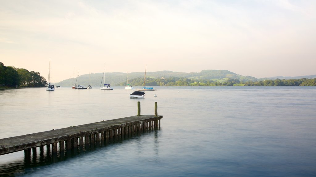 Ambleside which includes sailing, boating and landscape views