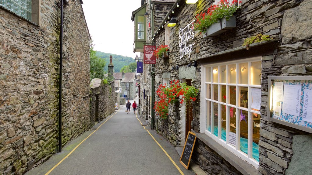 Ambleside which includes street scenes and a small town or village