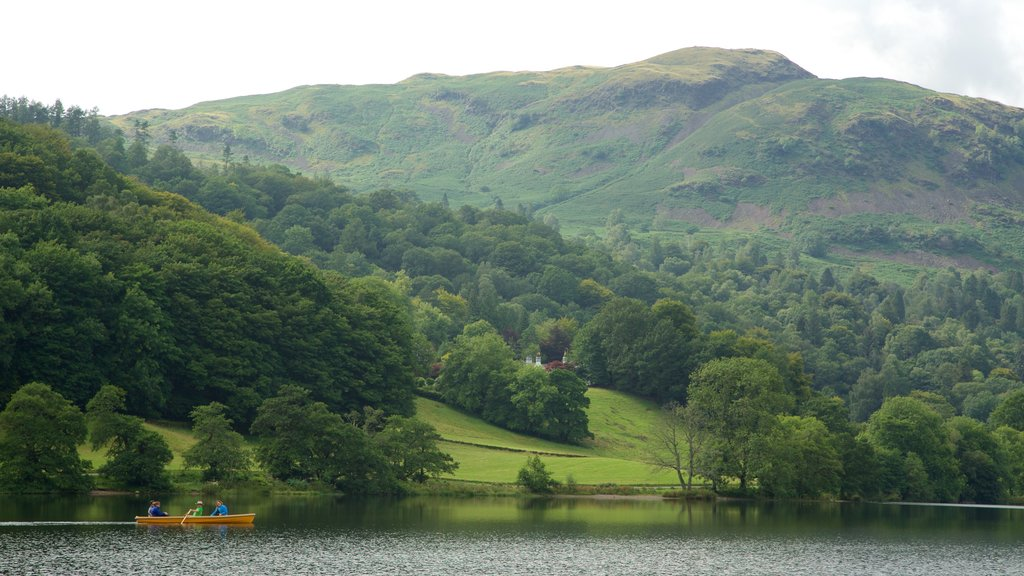 Grasmere featuring kayaking or canoeing, a lake or waterhole and mountains