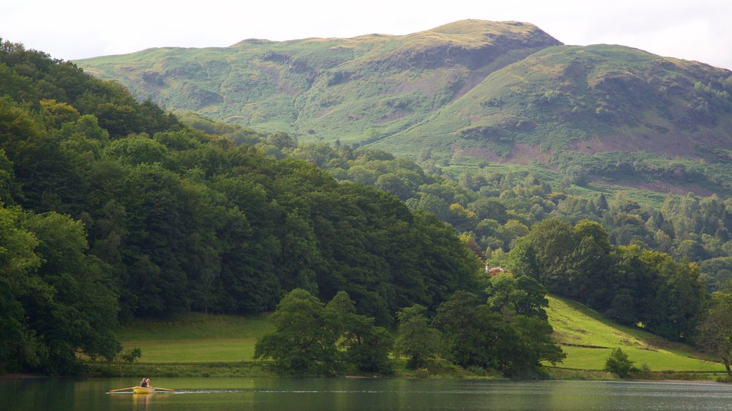 Grasmere which includes kayaking or canoeing, mountains and a lake or waterhole