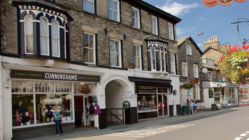 Windermere which includes street scenes, a small town or village and signage