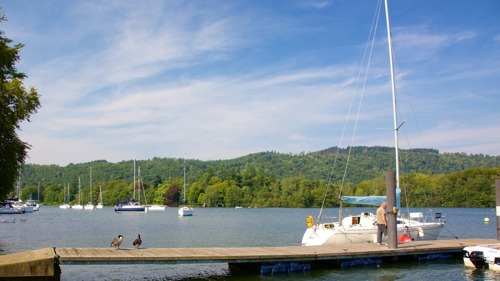 Bowness-on-Windermere showing boating and a lake or waterhole