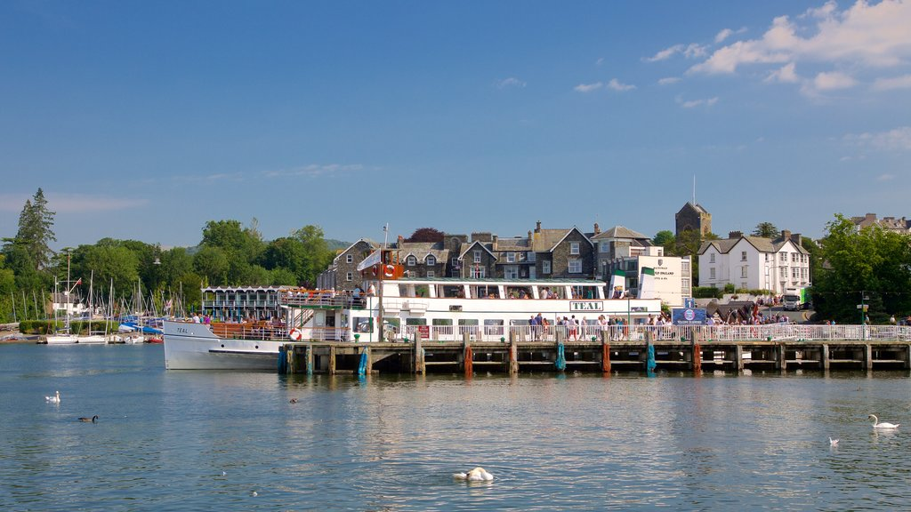 Bowness-on-Windermere which includes boating, a lake or waterhole and a coastal town
