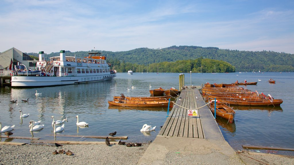 Bowness-on-Windermere which includes kayaking or canoeing, a lake or waterhole and a ferry