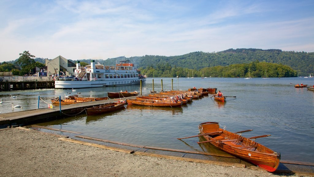Bowness-on-Windermere featuring a pebble beach, kayaking or canoeing and a ferry