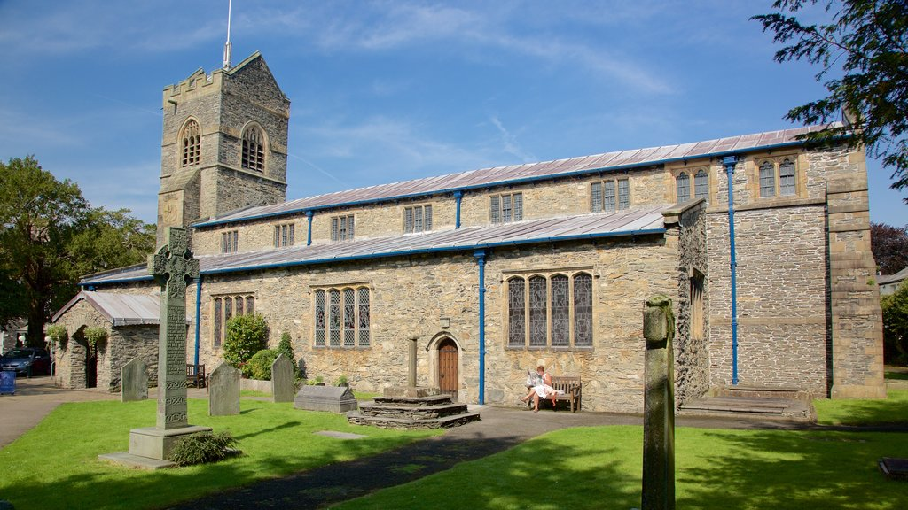 Bowness-on-Windermere which includes a church or cathedral and heritage architecture