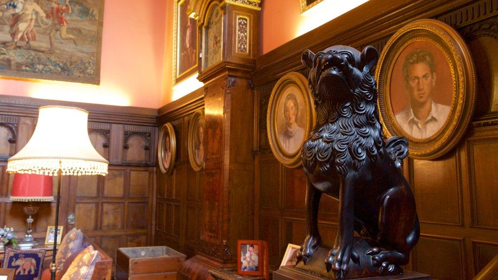Powderham Castle showing interior views