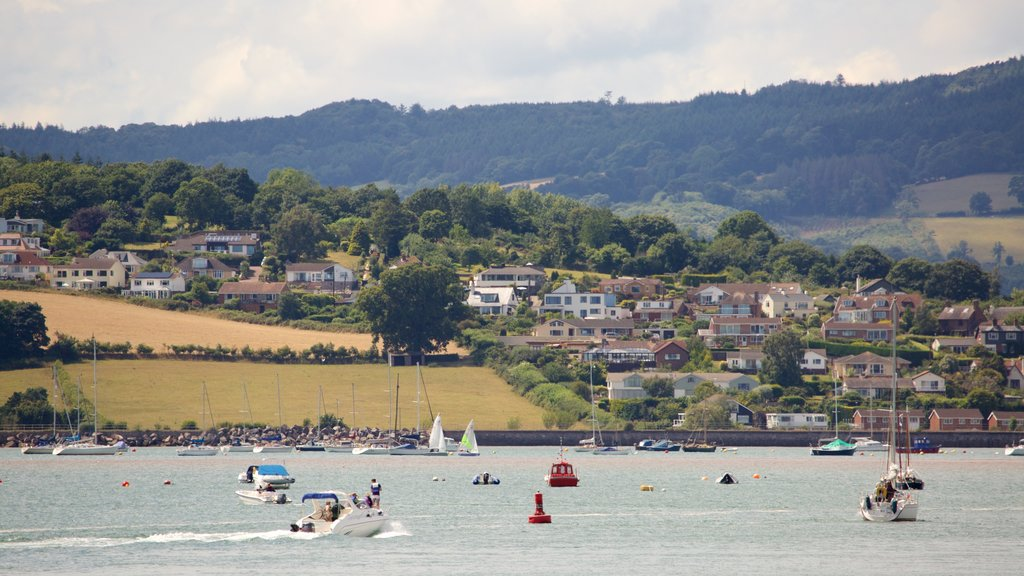 Exmouth showing general coastal views, a coastal town and boating