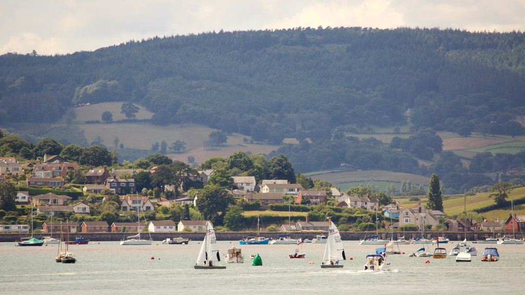 Exmouth which includes boating, general coastal views and a coastal town