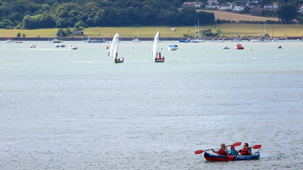 Exmouth featuring kayaking or canoeing, general coastal views and sailing