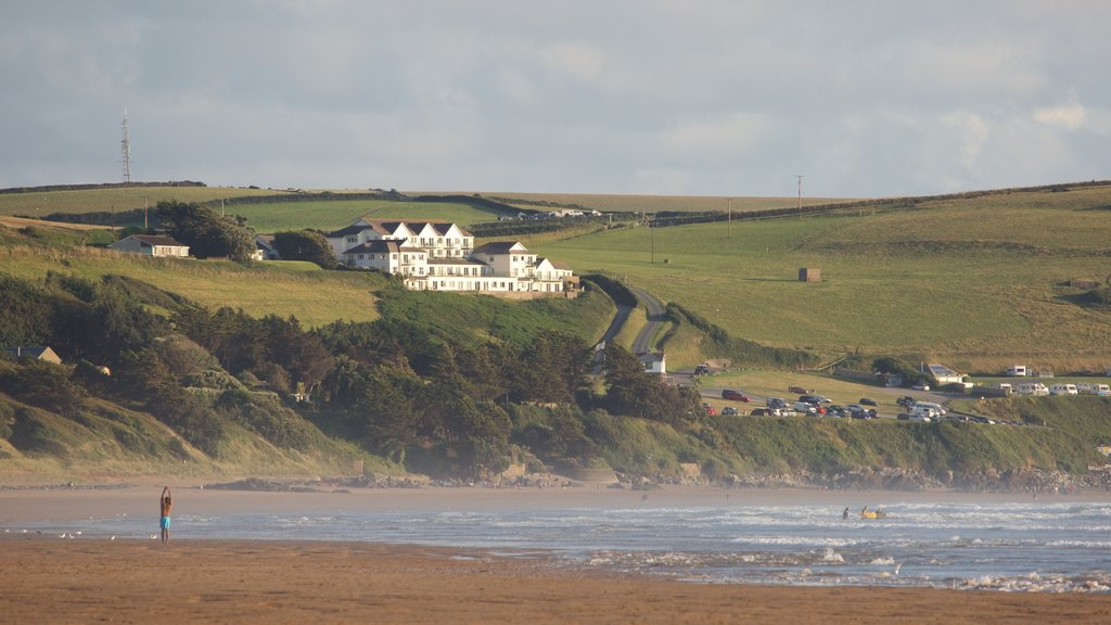Woolacombe featuring a sandy beach, tranquil scenes and a house