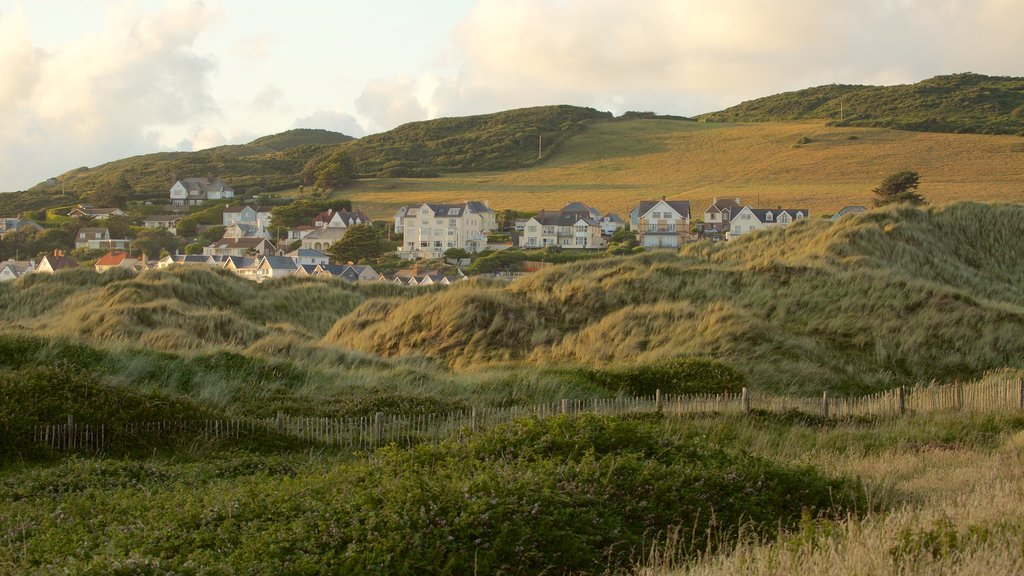 Woolacombe showing general coastal views, tranquil scenes and a coastal town