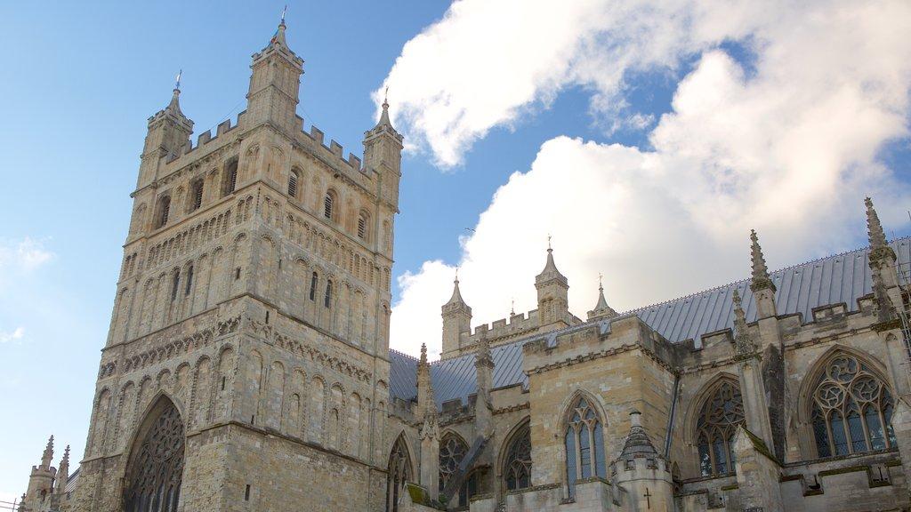 Catedral de Exeter que incluye una iglesia o catedral y patrimonio de arquitectura