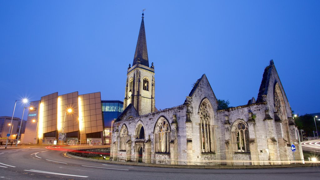 Charles Church featuring heritage architecture, a church or cathedral and street scenes