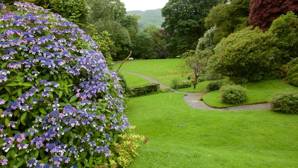 Rydal Mount which includes flowers and a garden