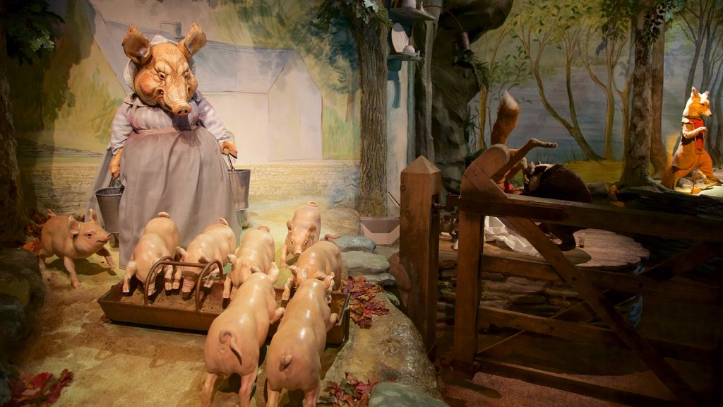 World of Beatrix Potter featuring animals and interior views