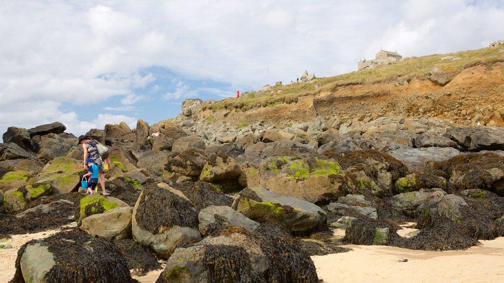 Porthmeor Beach featuring a sandy beach