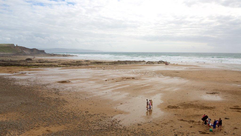Crooklets Beach featuring general coastal views