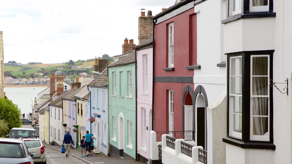 Devon which includes a small town or village