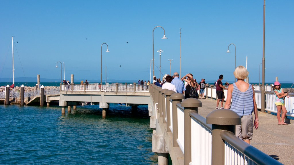Redcliffe showing general coastal views and fishing