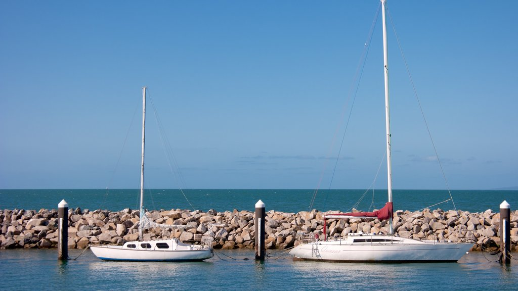 Redcliffe featuring general coastal views and boating
