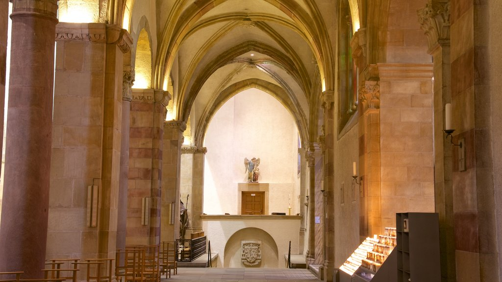 Echternach featuring interior views and a church or cathedral