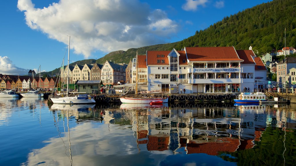 Bergen featuring a marina, boating and a coastal town