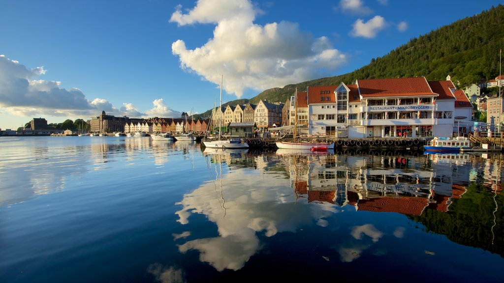 Bergen featuring a coastal town, boating and a marina