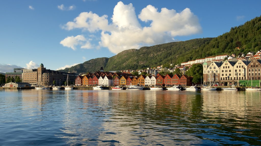 Bryggen featuring a coastal town, boating and a marina