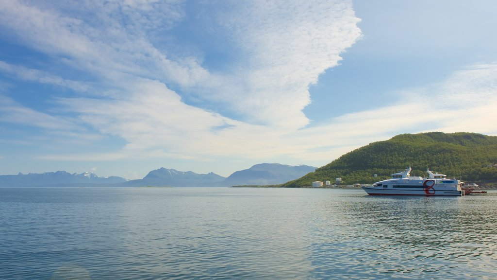 Harstad featuring general coastal views and boating