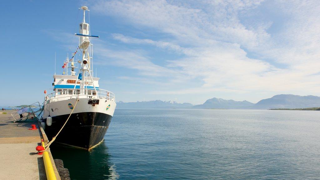 Harstad showing boating, general coastal views and landscape views