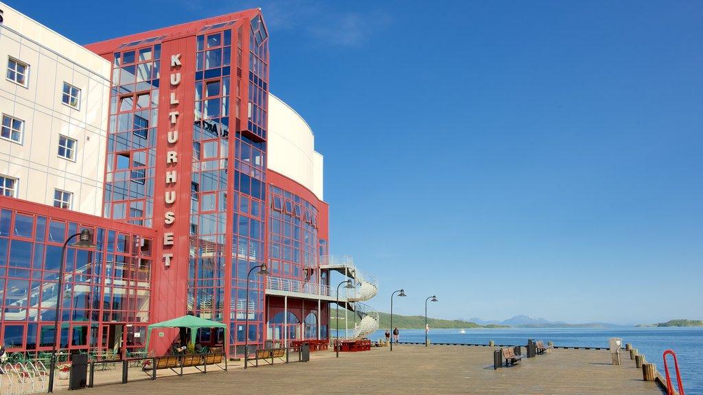 Harstad featuring general coastal views and a coastal town