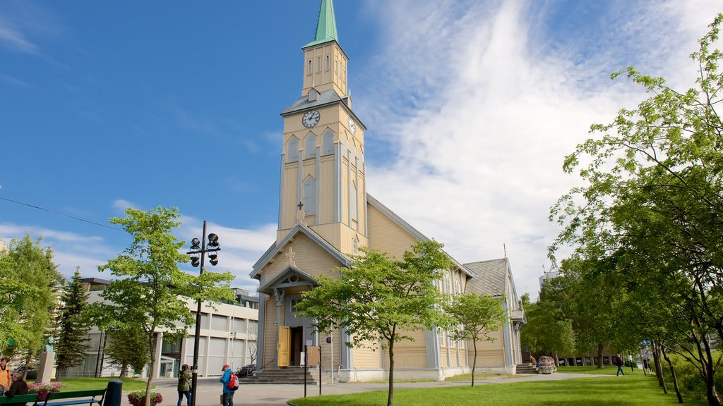 Tromso Cathedral showing a church or cathedral