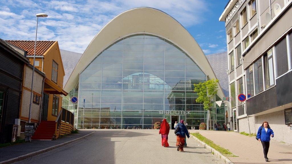 Tromso which includes modern architecture
