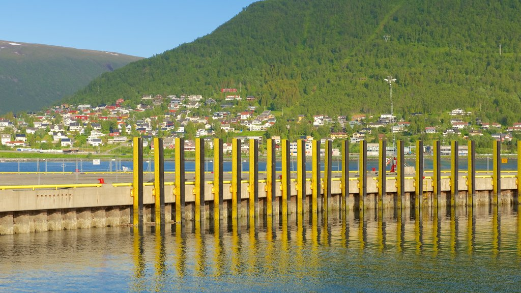 Tromso which includes a small town or village and general coastal views