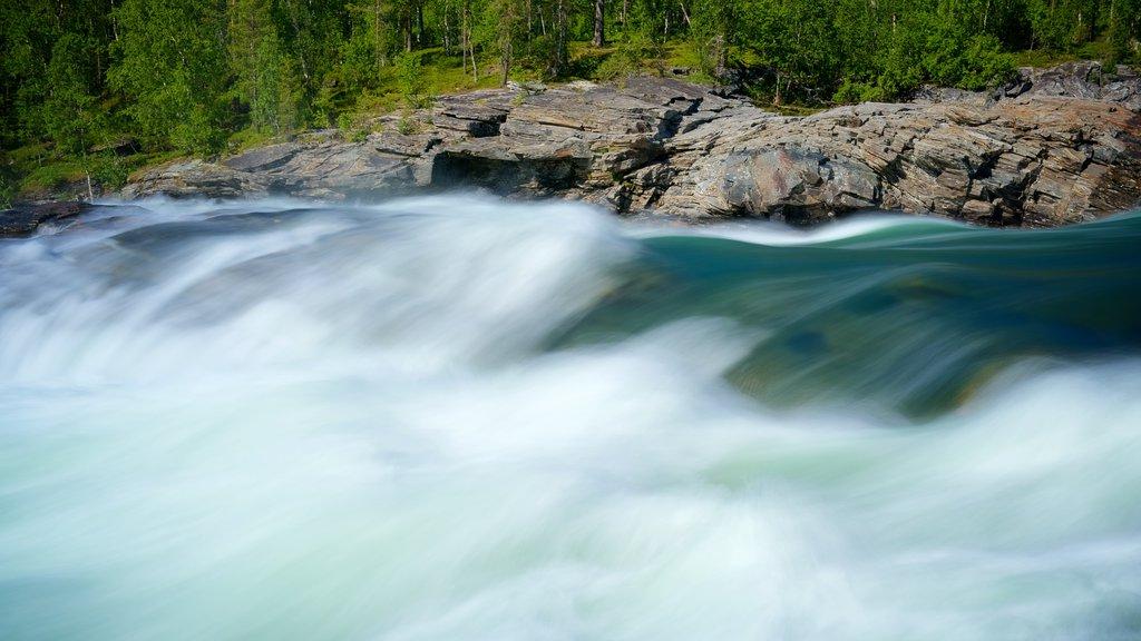Maalselvfossen Waterfall showing rapids