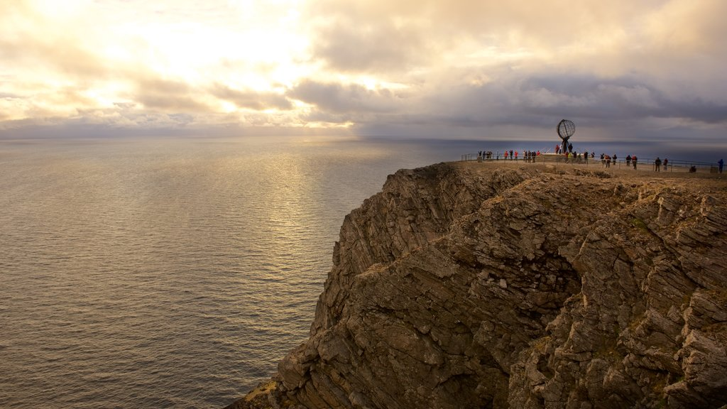 North Cape featuring a sunset, general coastal views and views