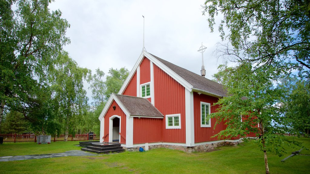 Jukkasjarvi featuring religious aspects, heritage architecture and a church or cathedral
