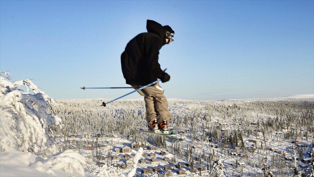 Vemdalen mostrando nieve y esquiar en la nieve