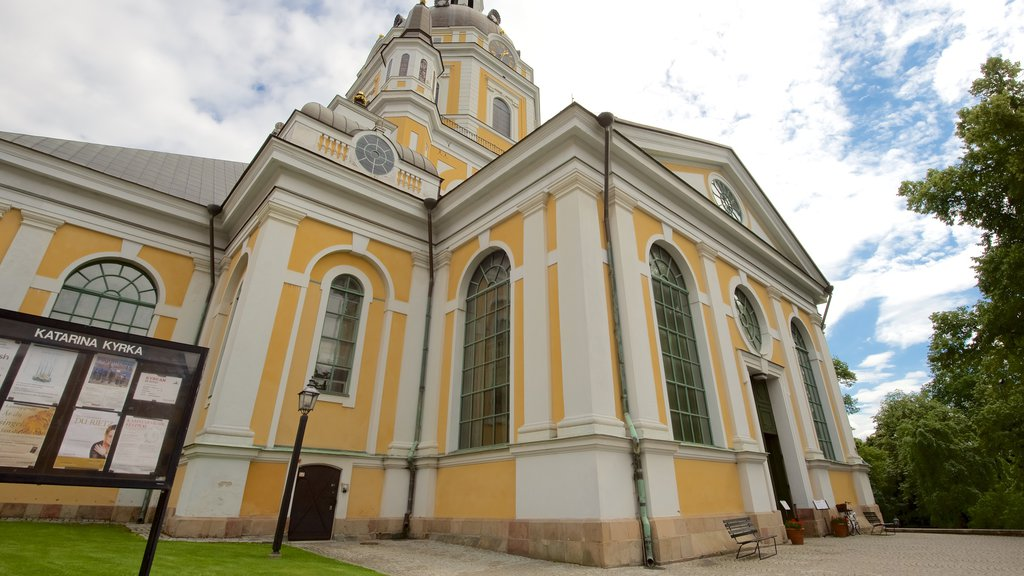 Katarina Church featuring a church or cathedral, religious aspects and heritage architecture