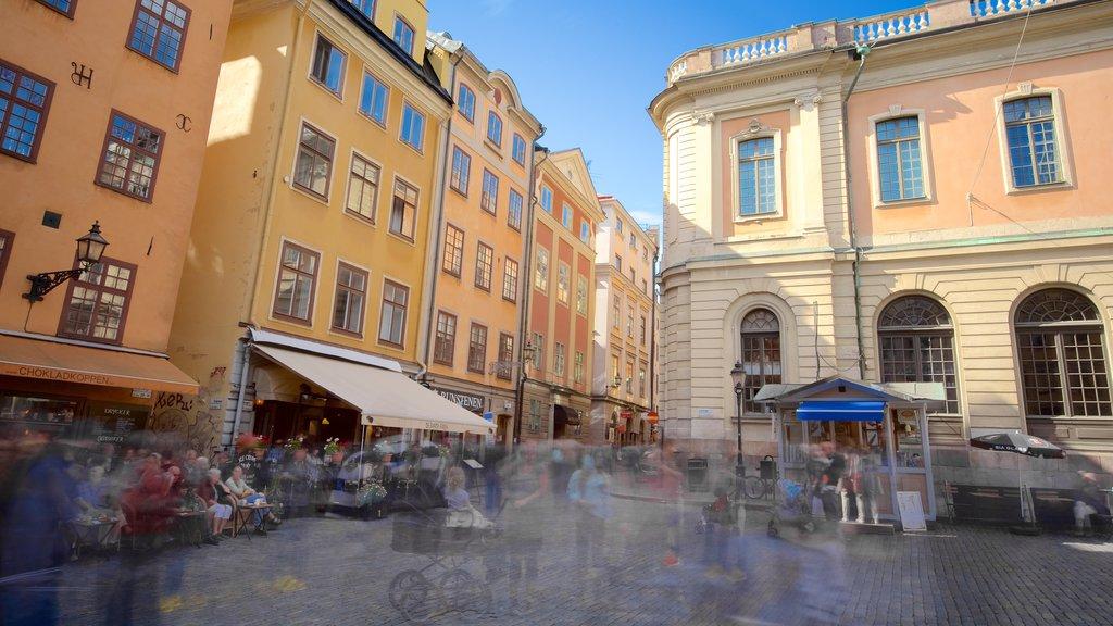Stortorget showing street scenes