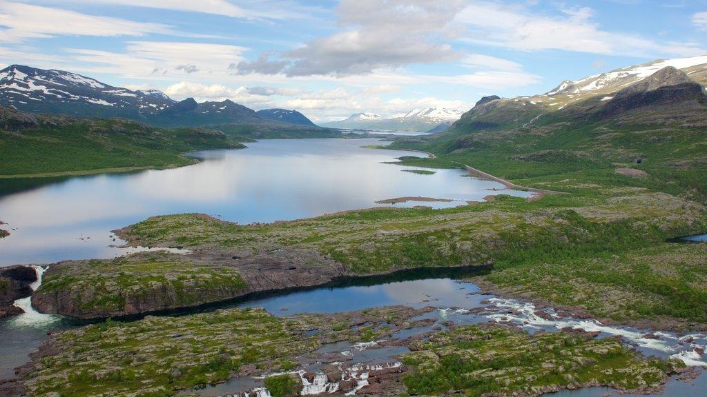 Parque Nacional de Stora Sjofallet mostrando un río o arroyo